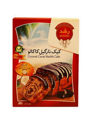 پودر کیک نارگیل کاکائو رشد