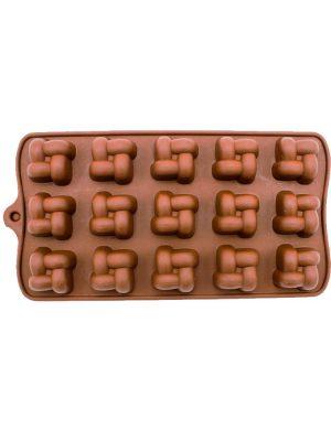 قالب شکلات سیلیکونی طرح حصیری
