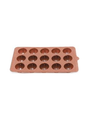 قالب سلیکونی شکلات گرد طرحدار