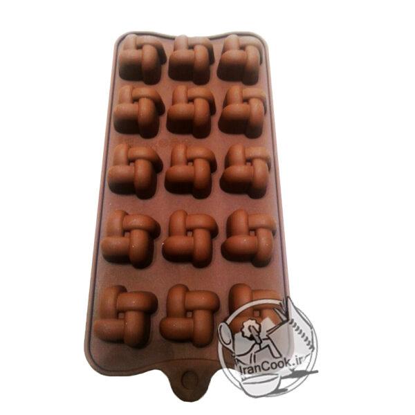 قالب شکلات سلیکونی طرح حصیری
