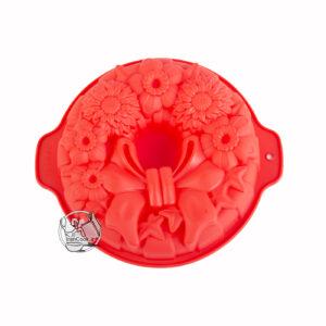 قالب کیک طرح گل و پاپیون سیلیکونی