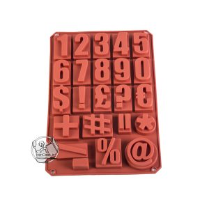قالب شکلات اعداد طرح ماشین حساب سیلیکونی