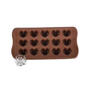 قالب شکلات طرح قلب سلیکونی