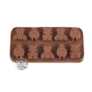 قالب شکلات طرح حیوانات سیلیکونی