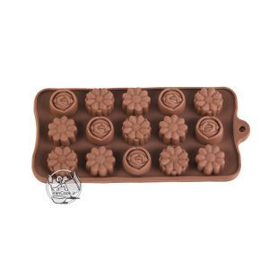 قالب شکلات طرح گل سیلیکونی