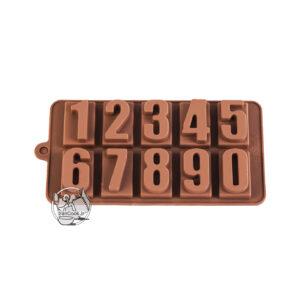 قالب شکلات اعداد انگلیسی سیلیکونی