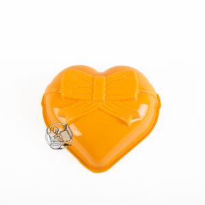 قالب ژله پلاستیکی تک قلب پاپیون دار