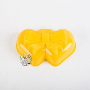 قالب ژله پلاستیکی دو قلب پاپیونی