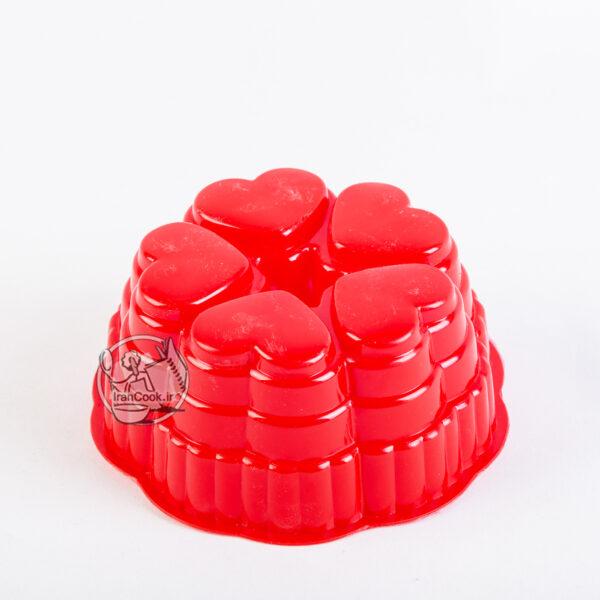 قالب ژله پلاستیکی ۵ قلب