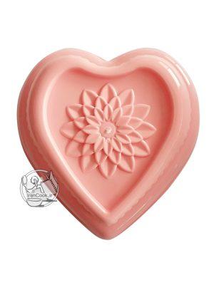قالب ژله پلاستیکی قلب ته گل دار