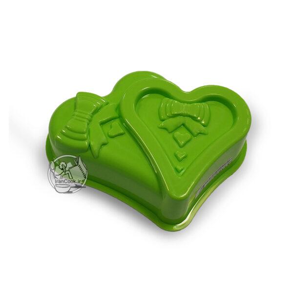قالب ژله پلاستیکی طرح قلب و پاپیون