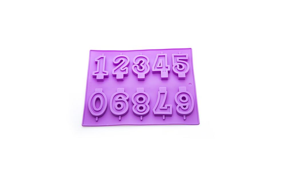 قالب سیلیکونی اعداد