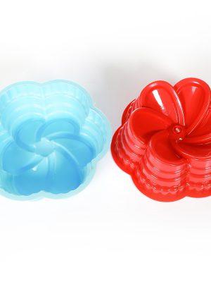 قالب ژله پلاستیکی گل 6 پر