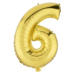 بادکنک فویلی عدد شش