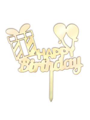 تاپر تولدت مبارک طرح کادو و بادکنک