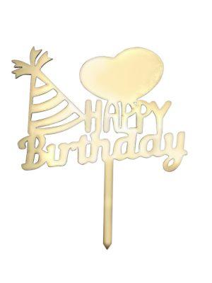 تاپر تولدت مبارک طرح قلب و کلاه