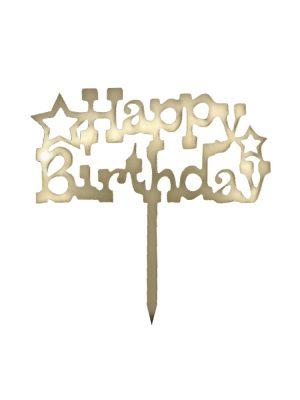 تاپر تولدت مبارک طرح ستاره