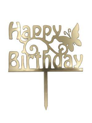 تاپر تولدت مبارک طرح پروانه