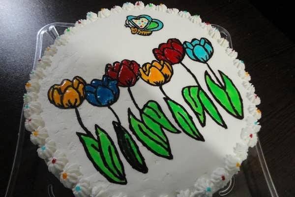 تزیین کیک با بریلو