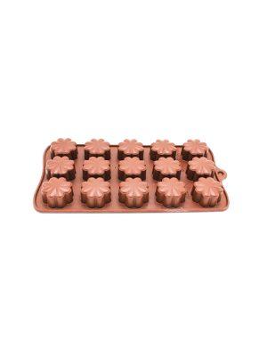 قالب شکلات سیلیکونی گل 8 پر