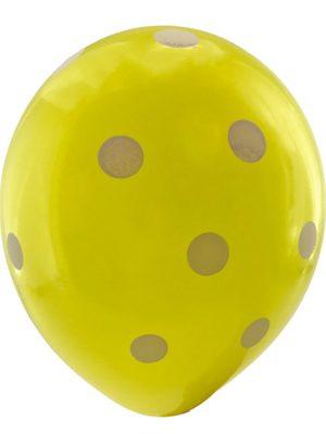 بادکنک زرد خال سفید