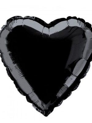 بادکنک فویلی قلب مشکی