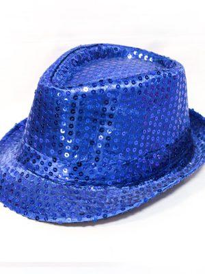 کلاه پولکی آبی