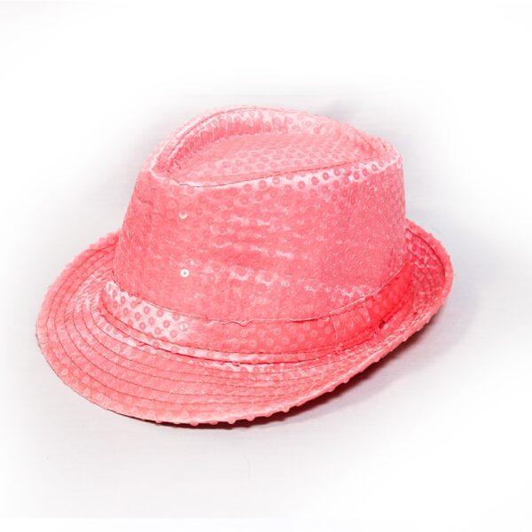 کلاه پولکی صورتی