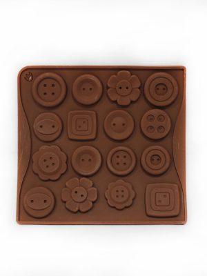 خرید قالب شکلات طرح دکمه