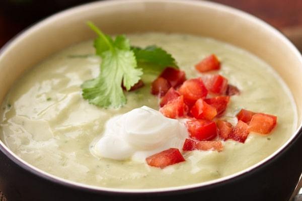 سوپ با پنیر ماسکارپونه