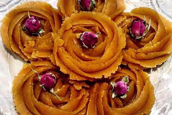 ماسوره گل برای تزیین حلوا