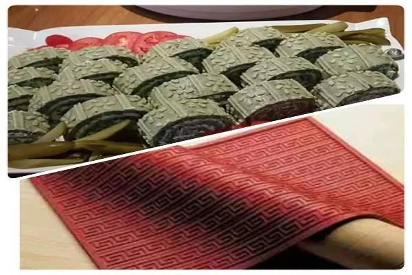 طرز تهیه رولت کوکو سبزی با صفحه ریلیف مت
