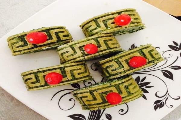 کوکو سبزی با قالب ریلیف مت
