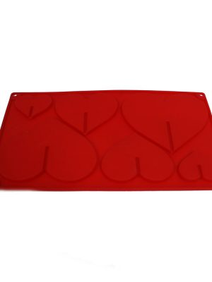 قالب سیلیکون شکلات و آبنبات چوبی قلب