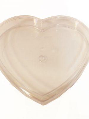 خرید جعبه کریستالی شیرینی قلب