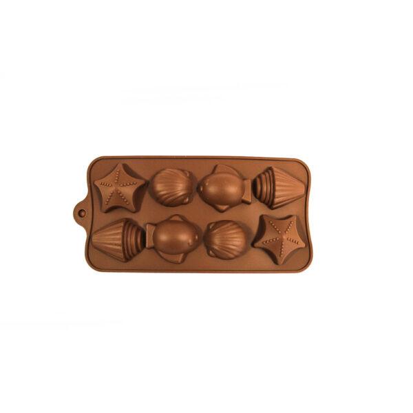 خرید قالب سیلیکونی شکلات طرح صدف و ماهی