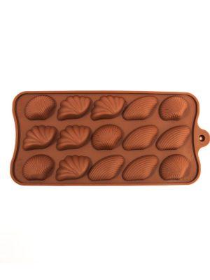 خرید قالب سیلیکونی شکلات طرح صدف
