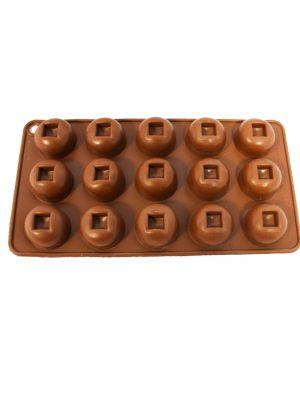 قالب شکلات سیلیکونی طرح دایره تو خالی