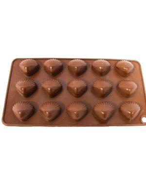 قالب شکلات سیلیکونی طرح صدف 15 تایی