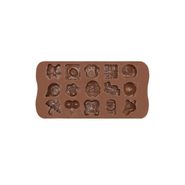 قالب شکلات سیلیکونی 15 طرح فانتزی