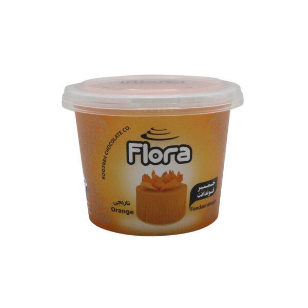 فوندانت نارنجی 300 گرمی فلورا
